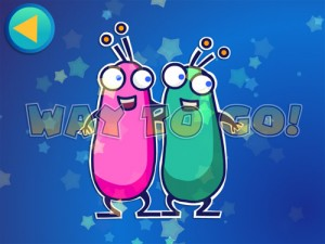 Alien Buddies dot-to-dot friends puzzle completed