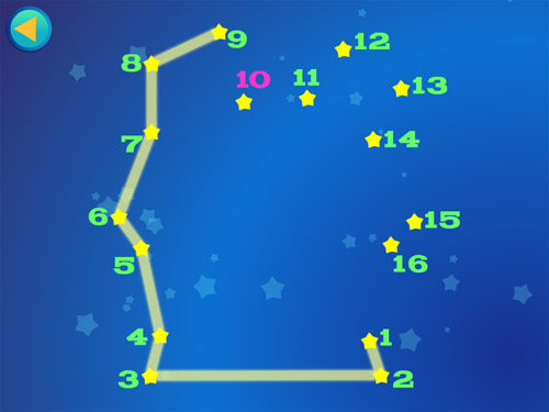Alien Buddies ipad dot-to-dot game