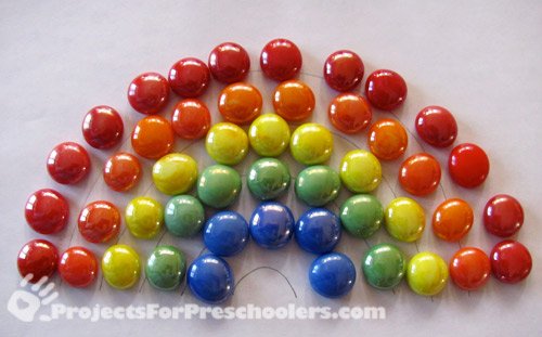 Make a rainbow with mosaic gems