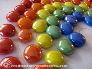 A rainbow of mosaic gems