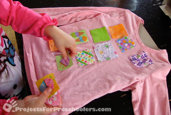 lay out the fabric scrap to create a design like you want it