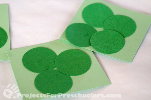 Add circles to make shamrocks and 4 leaf clovers