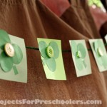 Shamrock and 4 Leaf Clover Garland