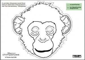 Make your own chimpanzee mask