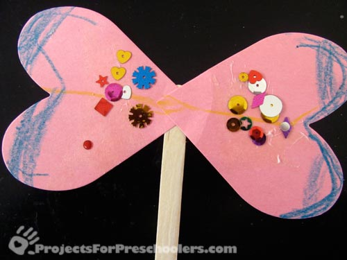 Make a butterfly with heart shaped wings