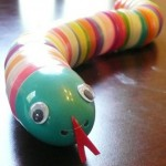 Recycle your plastic Easter eggs to make a toy snake