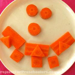 Carrot craft, creative food fun