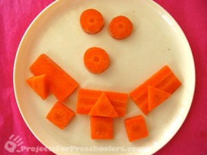 Carrot craft - make a smiley face