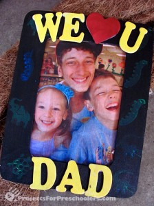 Hand made picture frame gift for Dad