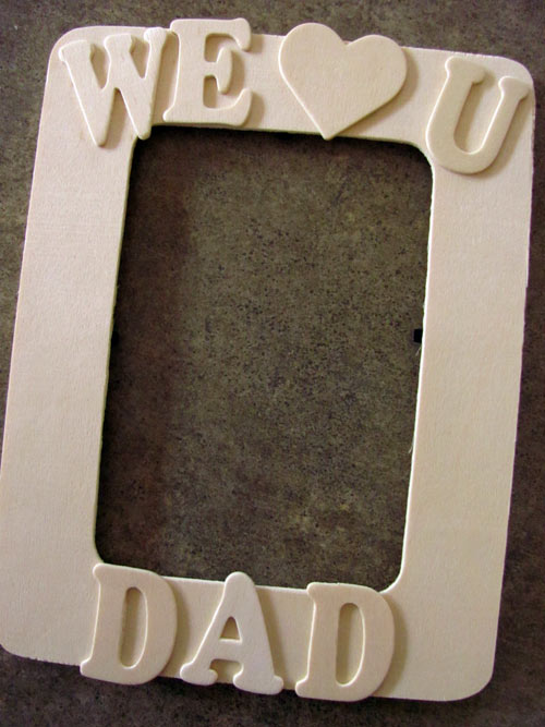 wood picture frame for Dad