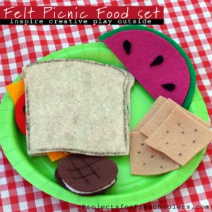 Make a felt picnic food play-set