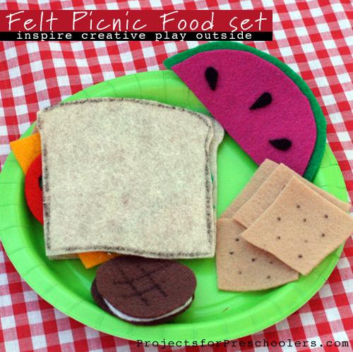 Make a felt picnic food play-set