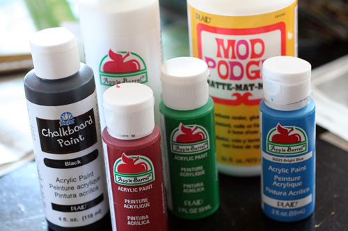 Plaid paint and craft supplies
