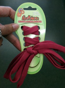 shoelaces at the Dollar tree