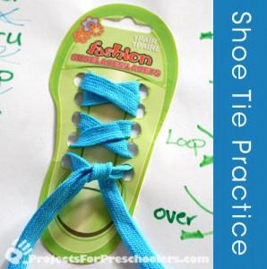 Shoe tie practice
