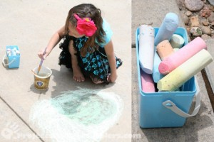Painting with sidewalk chalk