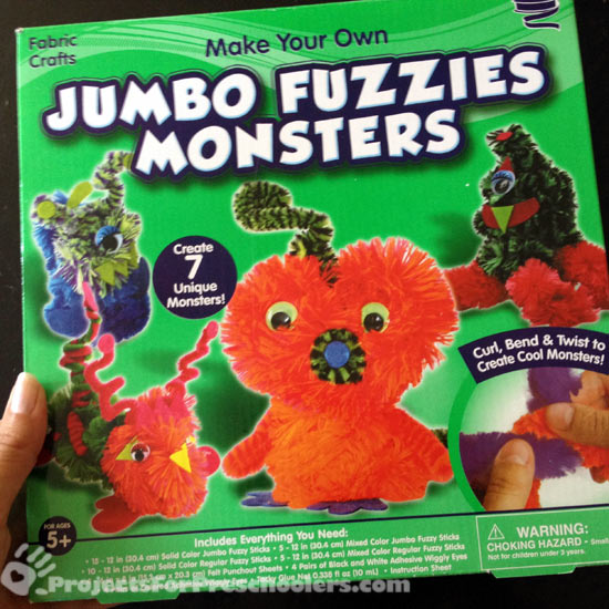 Fuzzy Monsters craft kit