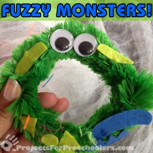 make fuzzy monsters