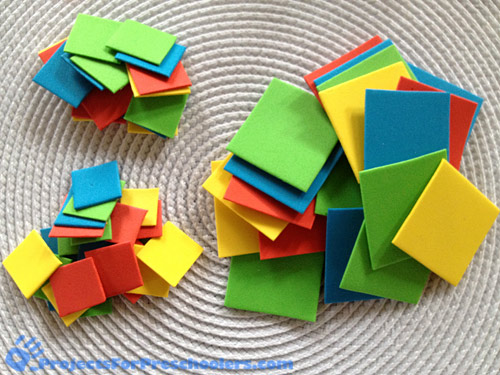 Craft foam play pieces