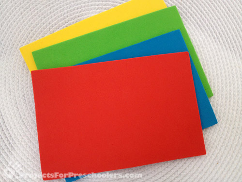 craft foam sheets in 4 colors