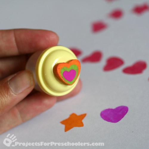 rubber heart eraser stamp