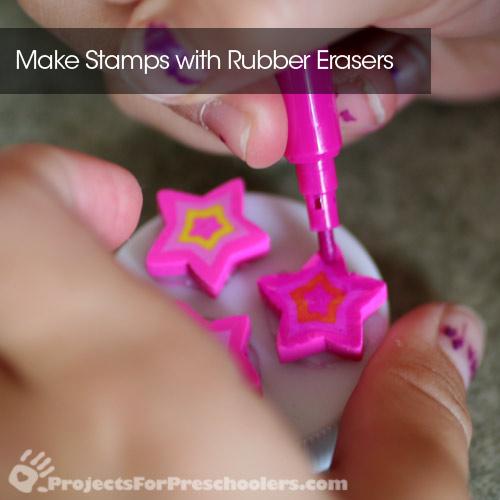 Rubber eraser stamps