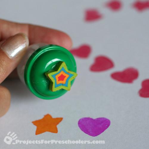 rubber star eraser stamp