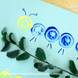 Egg Carton Art Caterpillars