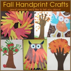 Fall handprint art and craft project ideas for preschoolers