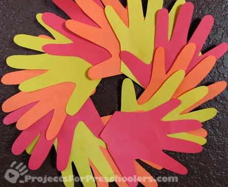 Fall handprint wreath