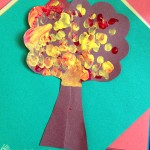 Fingerprint tree art project for kids