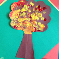 Fingerprint Art Fall Tree Craft