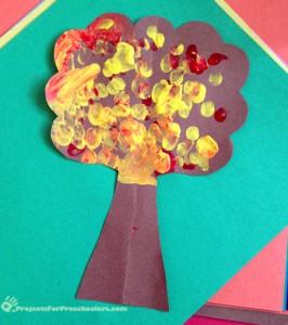 Fingerprint tree art project for kids