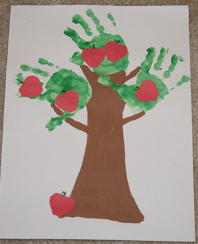 Handprint apple tree from AllKidsNetwork.com