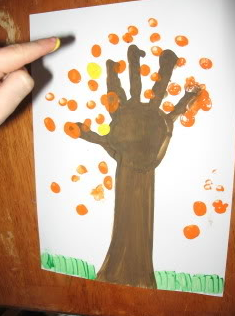 Handprint Art And Craft Projects For Fall Projects For