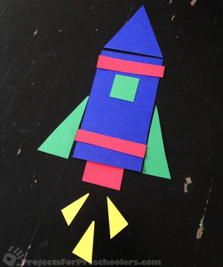 Paper rocket art project
