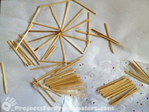 Toothpick art collage