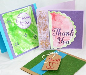 Thank you cards using David Tutera's card supplies