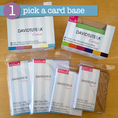 David Tutera step 1 card making supplies