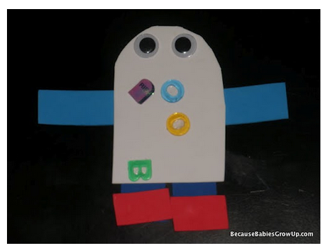 Paper collage ghost