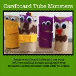cardboard tube monsters craft