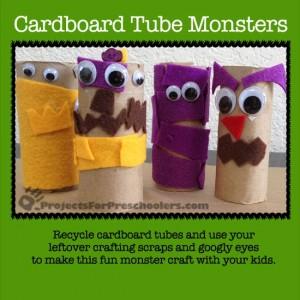 cardboard tube monsters craft