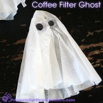 Make a coffee filter ghost