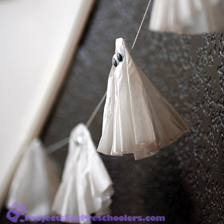 tape to a string to make your ghosts float