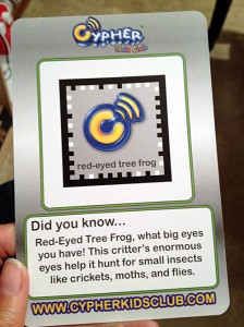 Back of Cypher Kids Club frog card