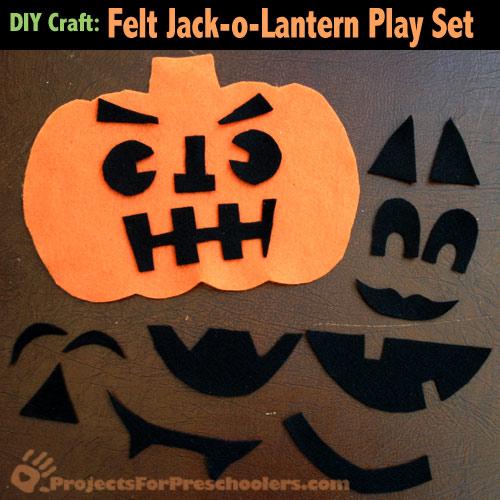 Felt jack-o-lantern play set