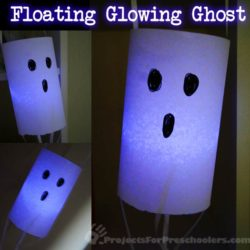 Make a floating paper ghost craft