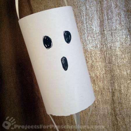 make a floating paper ghost