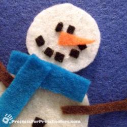 Make a felt snowman playset