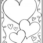 Valentine heart and swirls coloring page